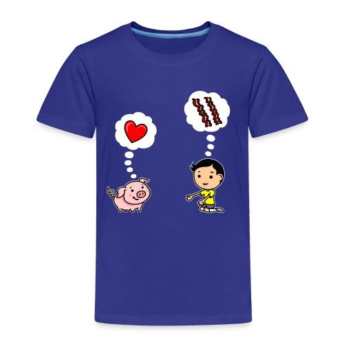 Boys Love Bacon Too - Toddler Premium T-Shirt