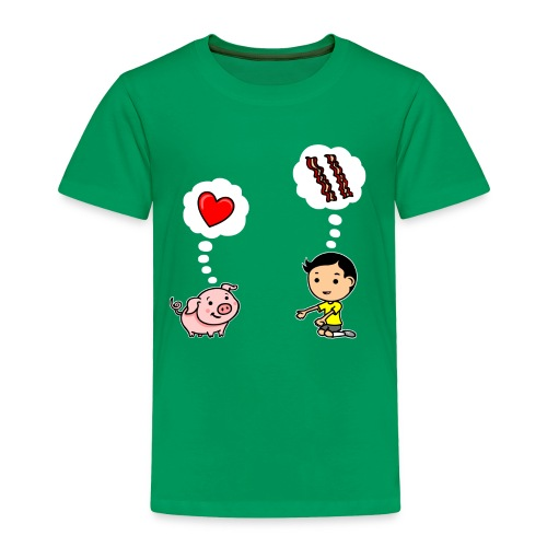 Boys Love Bacon Too - Toddler Premium T-Shirt