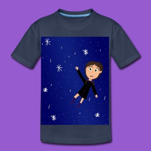 flying space girl - Toddler Premium T-Shirt