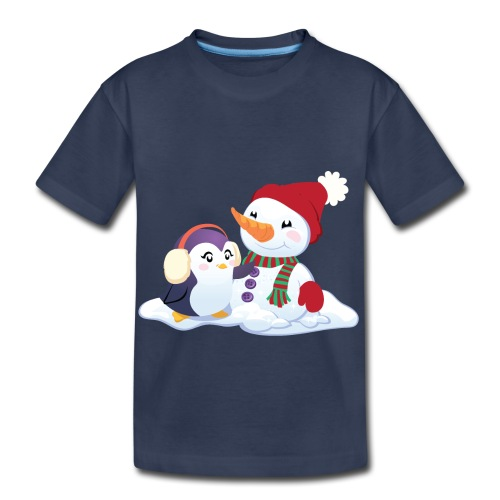 Penguin & Snowman Winter Friends - Toddler Premium T-Shirt