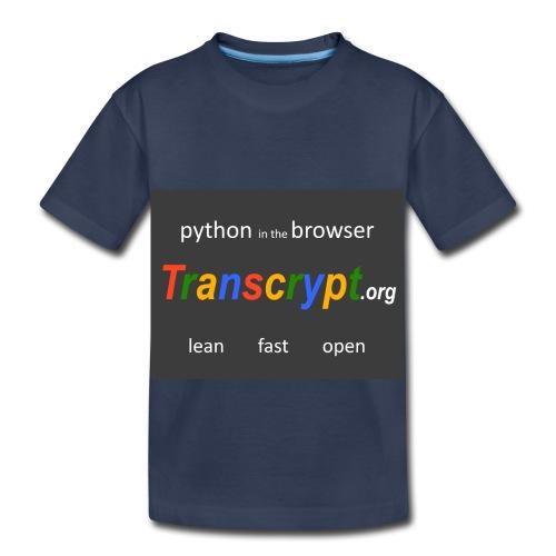 Transcrypt Logo - Toddler Premium T-Shirt