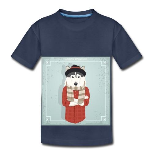 Hispter Dog - Toddler Premium T-Shirt