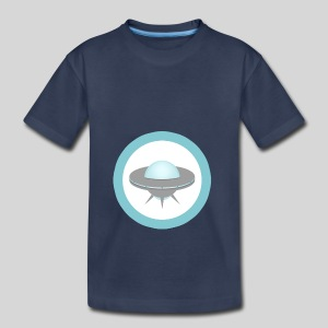 ALIENS WITH WIGS - Small UFO - Toddler Premium T-Shirt