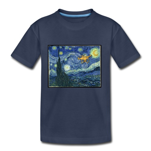 Starry Night Drone - Toddler Premium T-Shirt