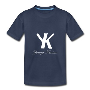 Young Kevino Official Logo (White) - Toddler Premium T-Shirt