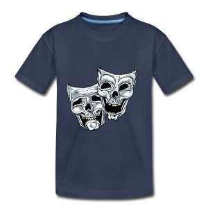 COMEDY TRAGEDY SKULLS - Toddler Premium T-Shirt