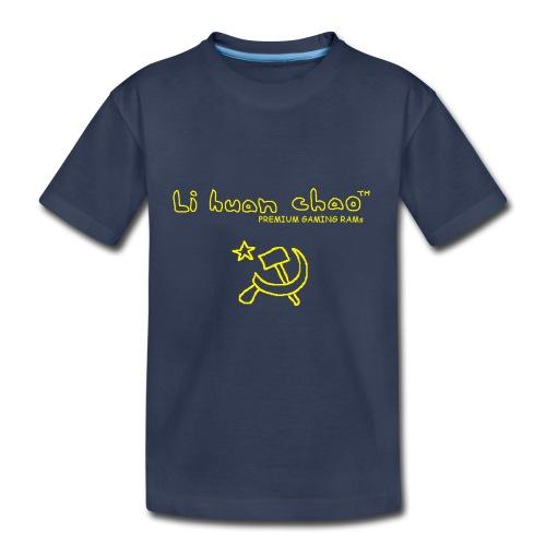 Full Li Huan Chao Logo Black+Yellow - Toddler Premium T-Shirt