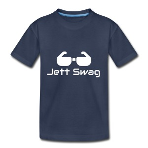 Jett Swag Sun Glasses White - Toddler Premium T-Shirt