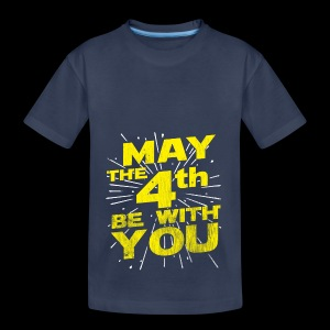 May The 4th Be With You Distressed - Toddler Premium T-Shirt