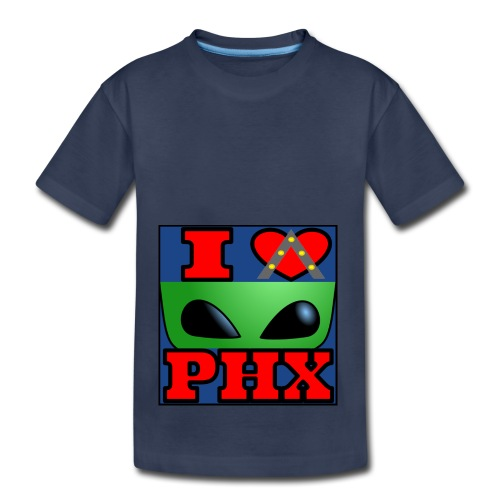 I Love Phoenix, Alien - Toddler Premium T-Shirt