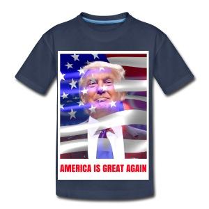 AMERICA IS GREAT AGAIN - Toddler Premium T-Shirt
