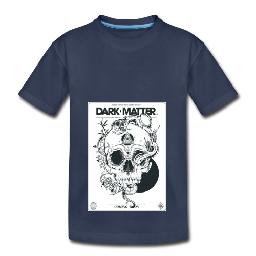 Flowery-Skull - Toddler Premium T-Shirt