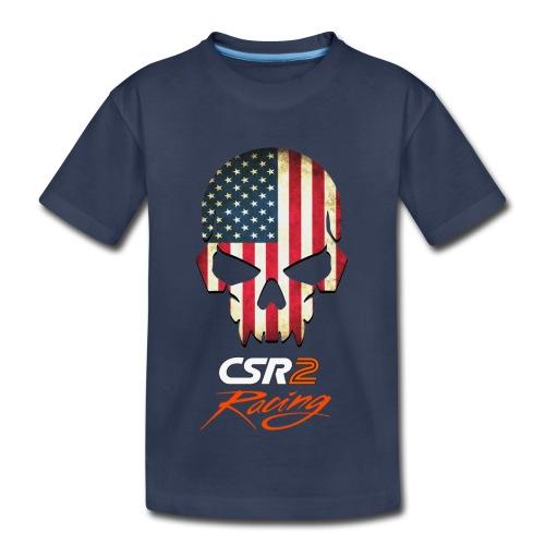 American Flag Skull CSR2 Racing - Toddler Premium T-Shirt