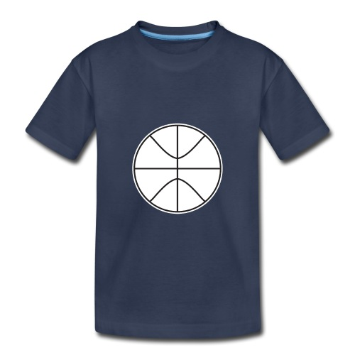Basketball black and white - Toddler Premium T-Shirt