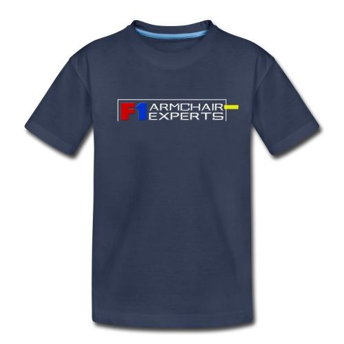 F1 Armchair Experts Official Logo WHT - Toddler Premium T-Shirt