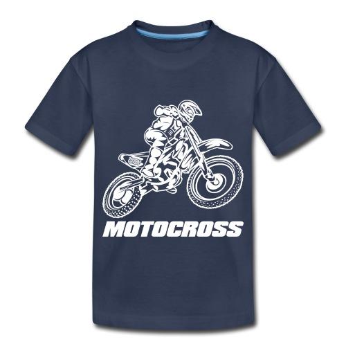 Motocross Logo White - Toddler Premium T-Shirt