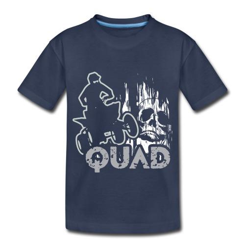 ATV Quad Skull Screamer - Toddler Premium T-Shirt