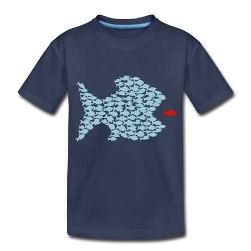 fish swarm comic hunt hunter ocean hunting fishes - Toddler Premium T-Shirt