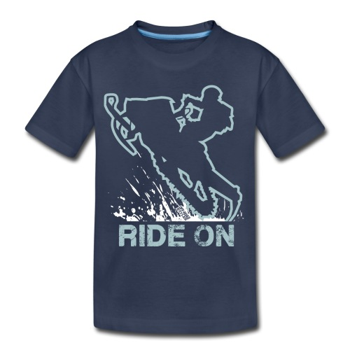 Snowmobile Ride On Sled - Toddler Premium T-Shirt