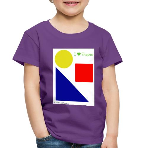 Hi I'm Ronald Seegers Collection-I Love Shapes - Toddler Premium T-Shirt