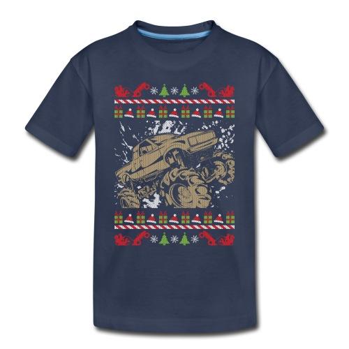 Ugly Christmas Mud Truck - Toddler Premium T-Shirt