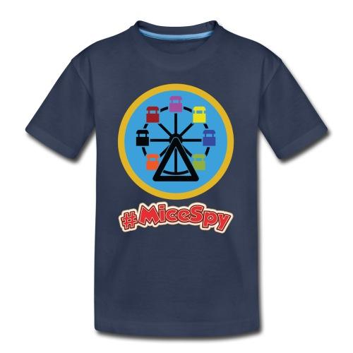 Mickeys Fun Wheel Explorer Badge - Toddler Premium T-Shirt