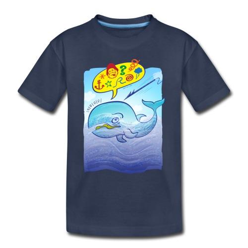 Menaced wild blue whale saying bad words - Toddler Premium T-Shirt