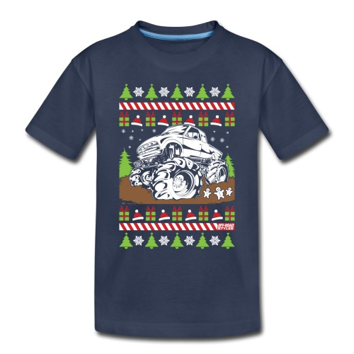 Mud Truck Ugly Christmas - Toddler Premium T-Shirt