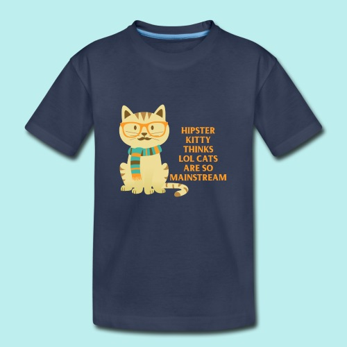 Hipster Kitty png - Toddler Premium T-Shirt