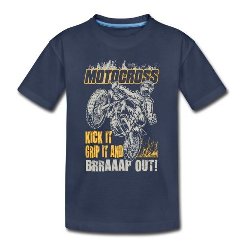 Motocross Kick It Stunt - Toddler Premium T-Shirt