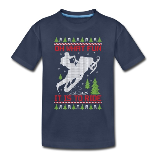 Ugly Christmas Snowmobile - Toddler Premium T-Shirt