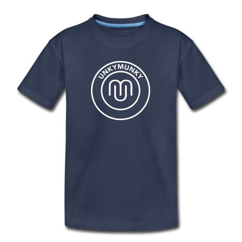 UnkyMunky logo white - Toddler Premium T-Shirt