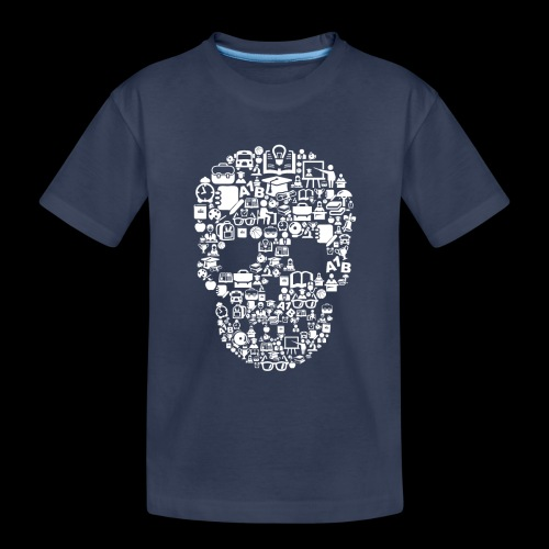 Getting Schooled Skull - Toddler Premium T-Shirt