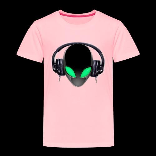 Alien Music Lover DJ (Simplified Fit All Design) - Toddler Premium T-Shirt