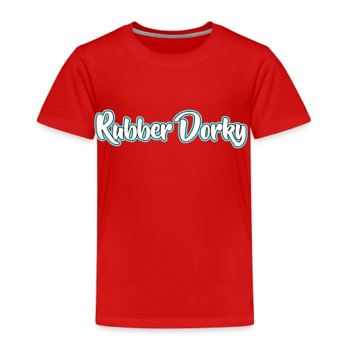 Rubber Dorky - Logo (name) - Toddler Premium T-Shirt