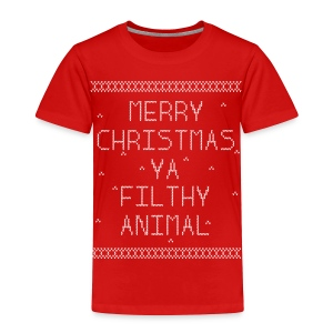 Merry Christmas Filthy Animals - Toddler Premium T-Shirt