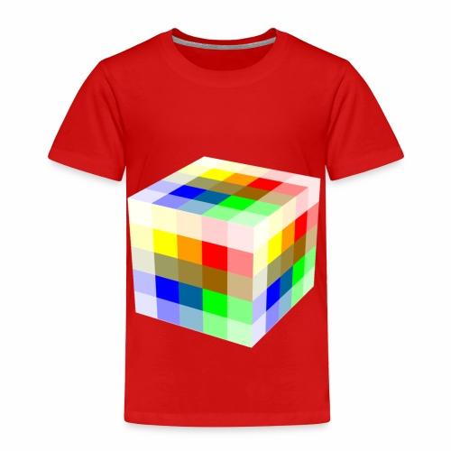 Multi Colored Cube - Toddler Premium T-Shirt