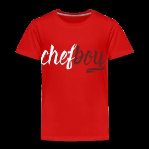 Chef boy White-Burgundy - Toddler Premium T-Shirt