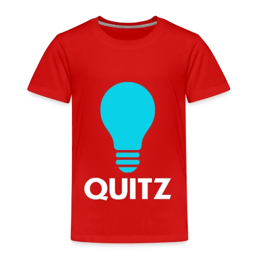 Quitz Blue w/ white text - Toddler Premium T-Shirt