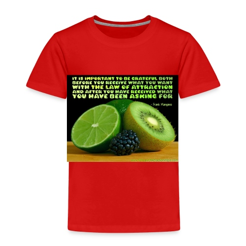 Be Grateful - Toddler Premium T-Shirt