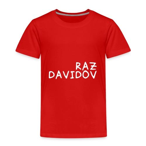 Raz Davidov Text - Toddler Premium T-Shirt