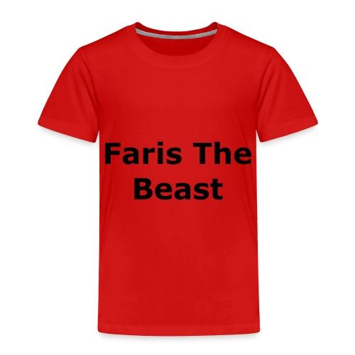 Faris The Beast Text - Toddler Premium T-Shirt