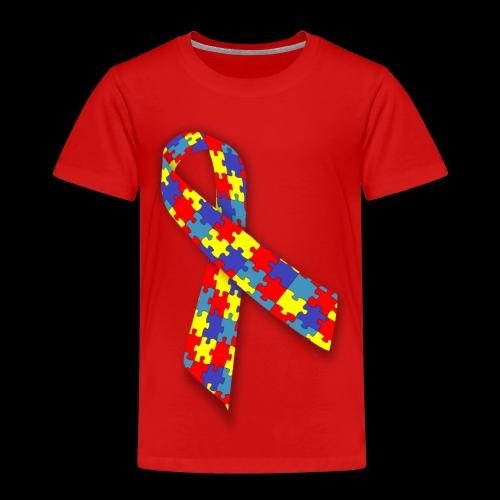autism awareness ribbon - Toddler Premium T-Shirt