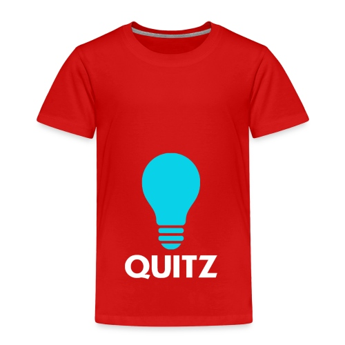Quitz Blue w/ white text - Toddler Premium T-Shirt