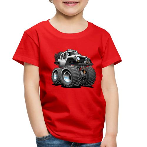 Off road 4x4 white jeeper cartoon - Toddler Premium T-Shirt