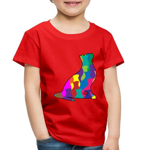 Colorful Cat Collage Silhouette - Toddler Premium T-Shirt