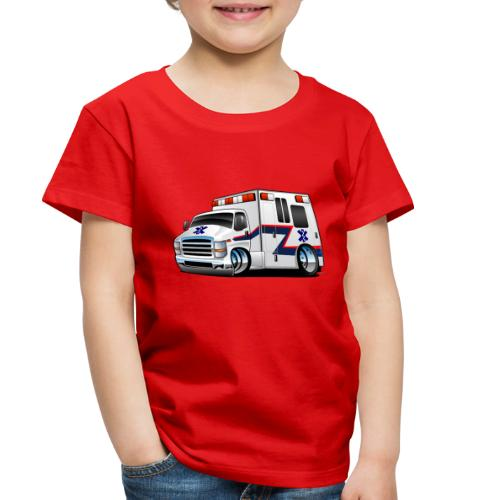 Paramedic EMT Ambulance Rescue Truck Cartoon - Toddler Premium T-Shirt