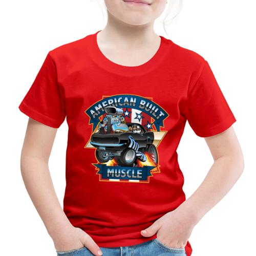 American Built Muscle - Classic Muscle Car Cartoon - Toddler Premium T-Shirt