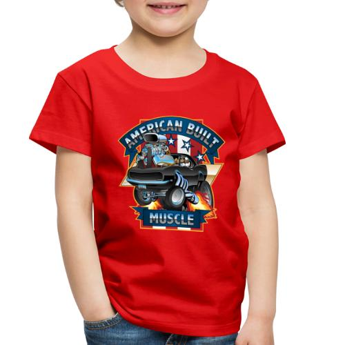 American Built Muscle - Classic Muscle Car Cartoon - Toddler Premium T-Shirt