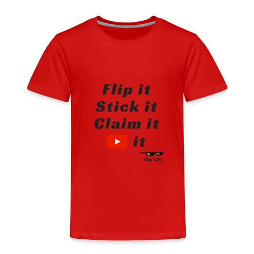 Flip it t-shirt black letting youtube logo - Toddler Premium T-Shirt